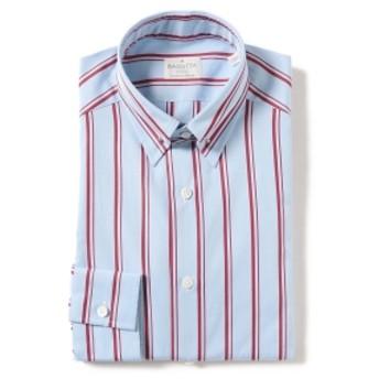 BAGUTTA / ボールドストライプ ピンホールカラーシャツ メンズ ドレスシャツ BORDEAUX/230 37