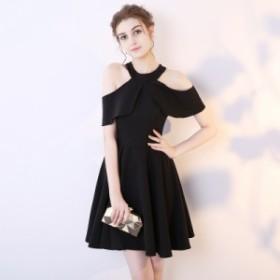 春 夏 ワンピース ドレス パーティードレス レディース 大きいサイズ XL 小さいサイズ XS ハイネック オフショル 結婚式 パーティー お呼