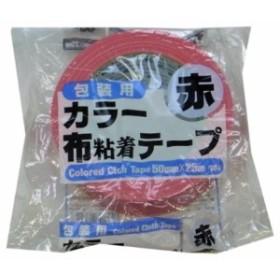 リンレイ 布カラーテープ #384布カラー (赤)サイズ50X25m 【まとめ買い30巻セット】