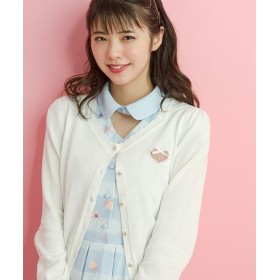 シークレットハニー ダイヤネックカーディガン レディース ホワイト F 【Secret Honey】