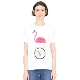 [マルイ] 【ユニセックス】Tシャツ/フラミンゴユニサイクル(オールシングスブライトアンドビューティフル)/グラニフ(graniph)