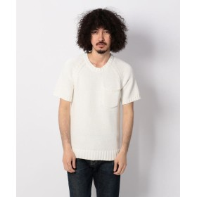 【40%OFF】 アンカットバウンド SS KNIT ニットTシャツ /BACK HEAD(バックヘッド) メンズ WHITE M 【UNCUT BOUND】 【セール開催中】