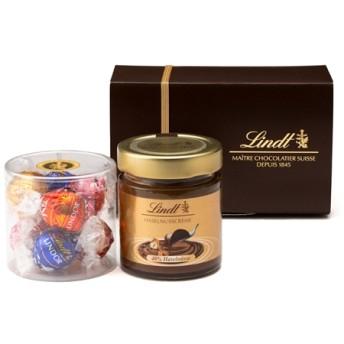 リンツ Lindt チョコレート チョコ スイーツ ギフト お中元 リンツ スプレッド ギフトボックス(リンドール&ヘーゼルナッツスプレッド)