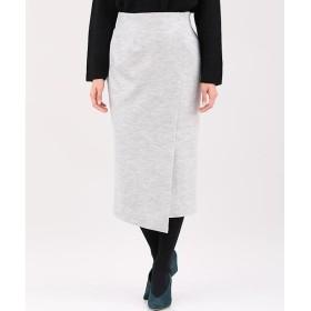 INED L / イネド(エルサイズ) 《セットアップ対応》《大きいサイズ》ウールリラクシングタイトスカート