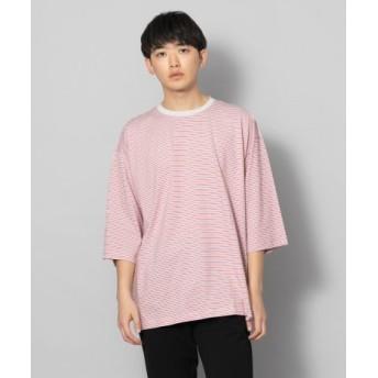 SENSE OF PLACE(センスオブプレイス) トップス Tシャツ・カットソー ボーダーエクストラルーズTシャツ