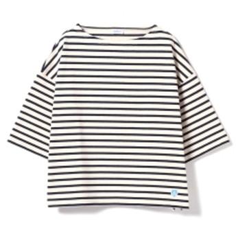 ORCIVAL / ワイドコットンロード 19SS レディース Tシャツ ECRU/MARINE 1