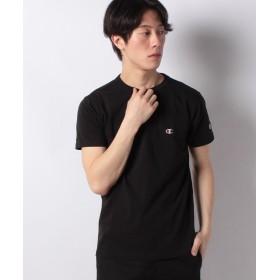 スペンディーズストア 〈Champion〉ワンポイントTシャツ メンズ ブラック S 【SPENDY'S Store】