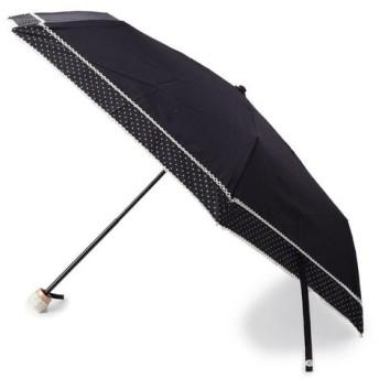 SHOO・LA・RUE / シューラルー 【晴雨兼用】ピンドットピコレ−ス折りたたみ傘