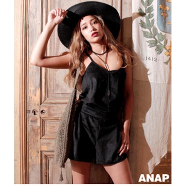 【ANAP:トップス】フェイクスエードキャミソール【別売りSETUP】