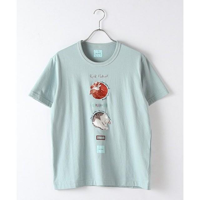PINK HOUSE / ピンクハウス たまねこ刺繍入りTシャツ