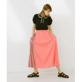 CAROLINA GLASER / 異素材配色 ロングスカート レディース その他スカート ピンク ONE SIZE