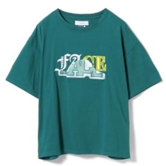 FACETASM / ミックス フェイス ビッグ Tシャツ レディース Tシャツ GREEN 1