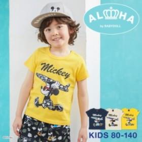 950374a6d6ce1 3 1NEW 親子お揃い ディズニー キャラクターサーフ Tシャツ 2281K ベビードール 子供服