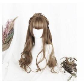 ウィッグ かつら ロング 耐熱 巻き髪 フルウィッグ 可愛い wig 空気感 ゆるふわ 前髪 ネット付き 小顔効果 自然 カツラ オシャレ