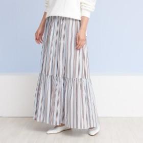 ルージュ・ヴィフ ラクレ(Rouge vif la cle)/ラメストライプギャザースカート