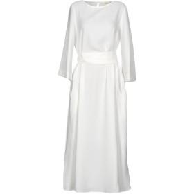 《期間限定 セール開催中》VICOLO レディース ロングワンピース&ドレス ホワイト S ポリエステル 100%