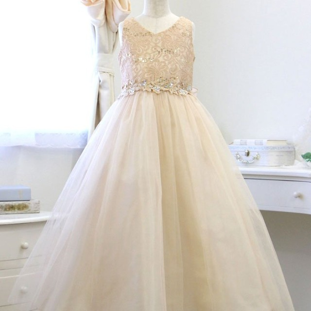 17d5cd239da2b リトルプリンセス子供ドレス 003021レディースシャンパンゴールド150cm Little Princess