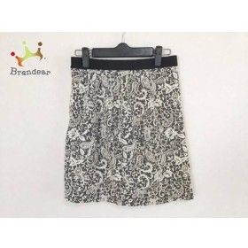 ジャスグリッティー JUSGLITTY スカート サイズ2 M レディース 美品 ダークグレー×白×黒   スペシャル特価 20190604