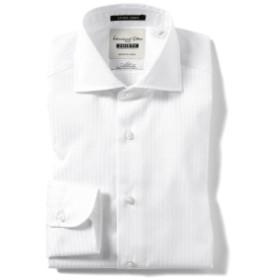 I.G.BEAMS / エクストラタイト ツイルストライプ カッタウェイカラーシャツ メンズ ドレスシャツ WHITE 40