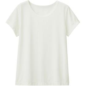 (GU)GUドライストレッチクルーネックT(半袖) WHITE 150