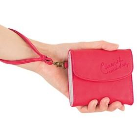 幸運呼び込む ラッキーピンクのスリムミニ財布 フェリシモ FELISSIMO【送料:450円+税】