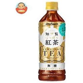 【送料無料】ポッカサッポロ 知覧にっぽん紅茶 無糖 500mlペットボトル×24本入