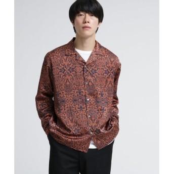 tk.TAKEO KIKUCHI / ティーケー タケオキクチ バティックフラワーオープンカラーシャツ