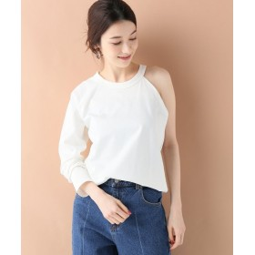 【50%OFF】 イエナ THE DALLAS ONE SHOULDER RAGLAN Tシャツ レディース ホワイト フリー 【IENA】 【セール開催中】