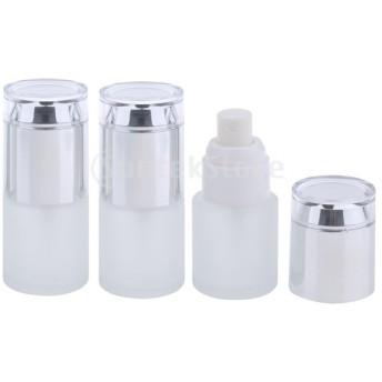 3ピース20ミリリットル詰めガラス詰め替え可能な空のポンプスプレーボトル