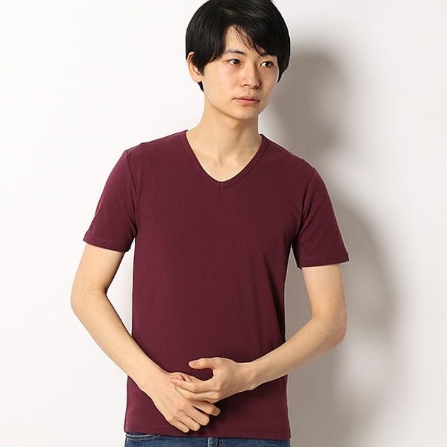 [マルイ]【セール】スパンフライス半袖VネックTシャツ/アドポーション(ADOPOSION)