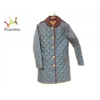 ラベンハム LAVENHAM コート サイズ38 M レディース ブルー×ネイビー キルティング/冬物 スペシャル特価 20190409