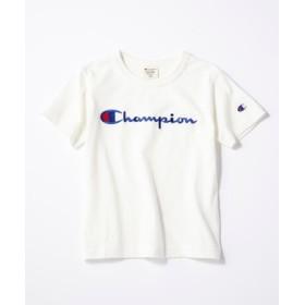 Champion スクリプトロゴTシャツ キッズ ホワイト