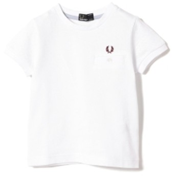 FRED PERRY / 鹿の子 Tシャツ 19 (2~9才) キッズ Tシャツ WHITE 8-9y