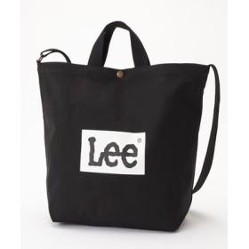 Lee ロゴ2wayショルダートートバッグバッグ ブラック