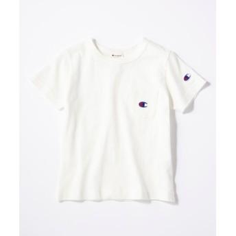 Champion ワンポイントポケット付きクルーネックTシャツ(ジュニアサイズ150cm) キッズ ホワイト