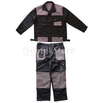 作業服長袖作業用ユニフォームカバーオールとツールポケット全体
