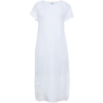 《セール開催中》GUGLIELMINOTTI レディース 7分丈ワンピース・ドレス ホワイト 38 麻 100%