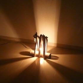 流木ランプ ハンドメイド 昼間はオブジェとして 夜間はおしゃれな照明として☆流木アート