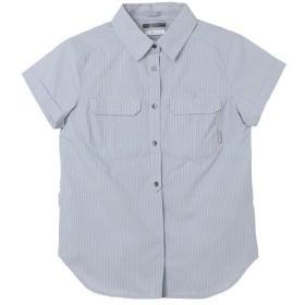 コロンビア(Columbia) レディース ピルスナーピーク ノベルティ ショートスリーブシャツ Pilsner Peak Novelty SS Shirt Grey Stripe AR1926 032