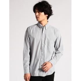 BACK NUMBER ストレッチストライプシャツ メンズ ブルー*ネイビー