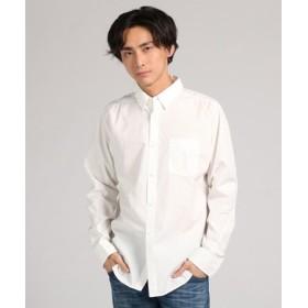 boga boga Loopline 【WEB限定価格】日本製「Tシャツのようにシャツを着る」 立体パターンボタンダウンシャツ メンズ ホワイト