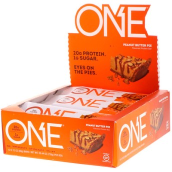 One Bar、ピーナッツバターパイ味、12本入り、1本当たり2.12 oz (60 g)