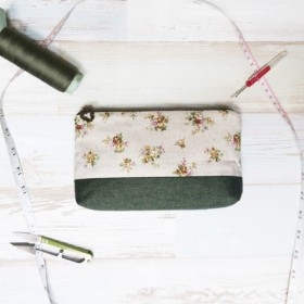 fairy garden - cosmetic zipper pencil bag