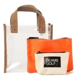 BEAMS GOLF ORANGE LABEL / PVC カートバッグ レディース トートバッグ CLEAR ONE SIZE