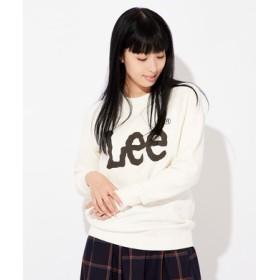 Lee 【メンズ&レディーススウェット2枚目半額】ロゴトレーナー レディース オフシロ