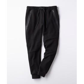 BACK NUMBER 「タテヨコ伸びる」撥水ジョガーパンツ メンズ ブラック