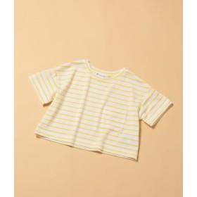 ロペピクニック キッズ/【ROPE' PICNIC KIDS】ボーダーTシャツ/イエロー/110