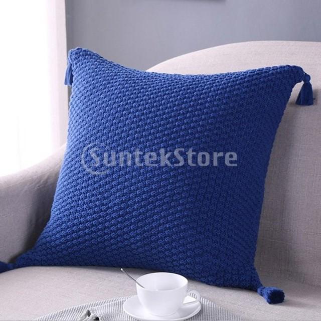 純粋な色の枕カバー18x18インチホームインテリアピローケース