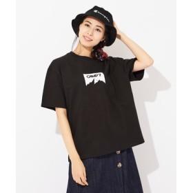 CAMP7 マウンテンシルエットロゴTシャツ レディース ブラック