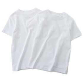 HANES BEEFY-Tシャツ2P キッズ オフシロ